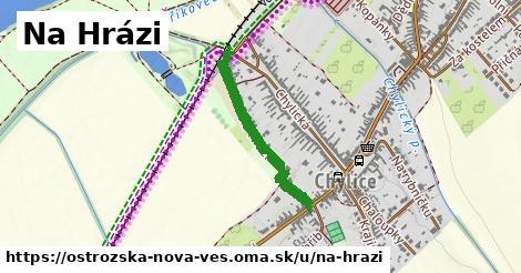 ilustrácia k Na Hrázi, Ostrožská Nová Ves - 540m
