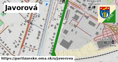 ilustrácia k Javorová, Partizánske - 408m
