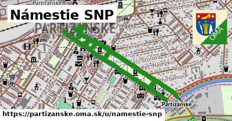 ilustrácia k Námestie SNP, Partizánske - 2,2km