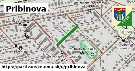 ilustračný obrázok k Pribinova, Partizánske