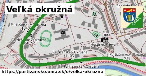 ilustrácia k Veľká okružná, Partizánske - 1,28km