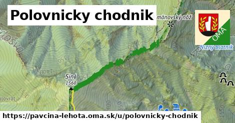 ilustrácia k Polovnicky chodnik, Pavčina Lehota - 424m