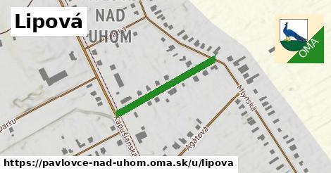 ilustrácia k Lipová, Pavlovce nad Uhom - 254m