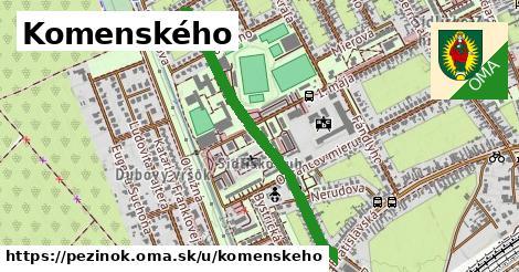 ilustračný obrázok k Komenského, Pezinok