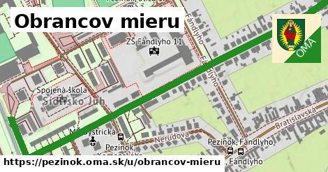 ilustrácia k Obrancov mieru, Pezinok - 0,88km