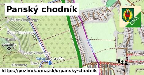 ilustračný obrázok k Panský chodník, Pezinok