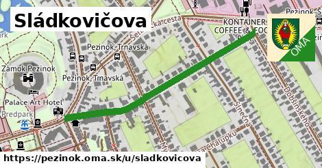 ilustračný obrázok k Sládkovičova, Pezinok