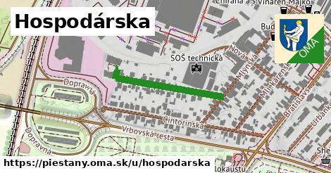 ilustrácia k Hospodárska, Piešťany - 239m