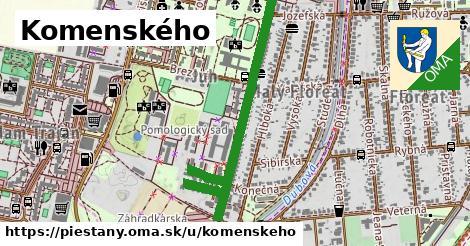 ilustračný obrázok k Komenského, Piešťany
