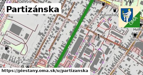 ilustračný obrázok k Partizánska, Piešťany