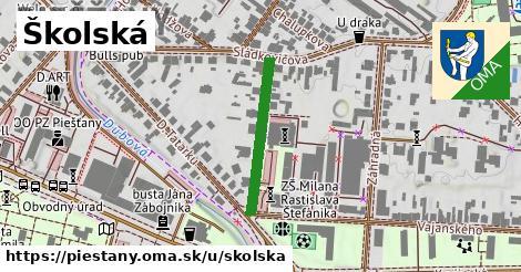 ilustrácia k Školská, Piešťany - 227m