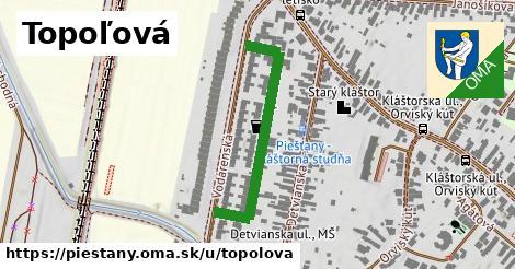 ilustrácia k Topoľová, Piešťany - 345m