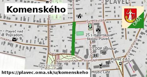 ilustrácia k Komenského, Plaveč - 165m
