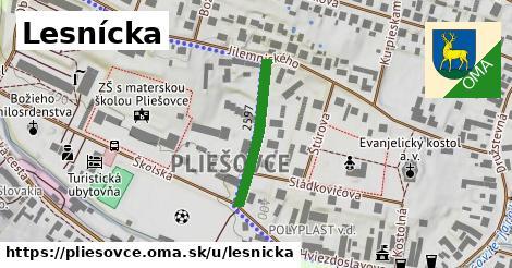 ilustrácia k Lesnícka, Pliešovce - 223m