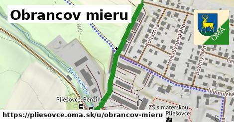 ilustrácia k Obrancov mieru, Pliešovce - 407m