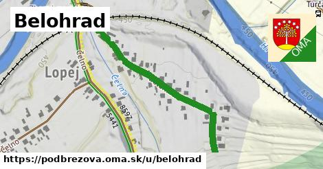 ilustrácia k Belohrad, Podbrezová - 433m