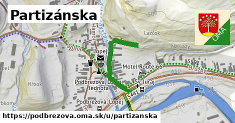 ilustrácia k Partizánska, Podbrezová - 300m