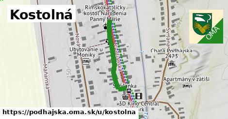 ilustrácia k Kostolná, Podhájska - 262m