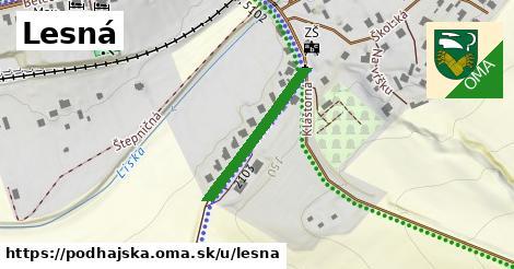 ilustrácia k Lesná, Podhájska - 242m