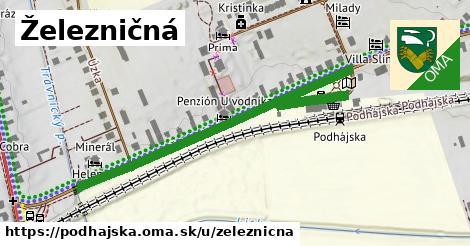 ilustrácia k Železničná, Podhájska - 583m