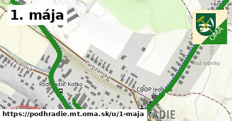 ilustrácia k 1. mája, Podhradie, okres MT - 0,79km