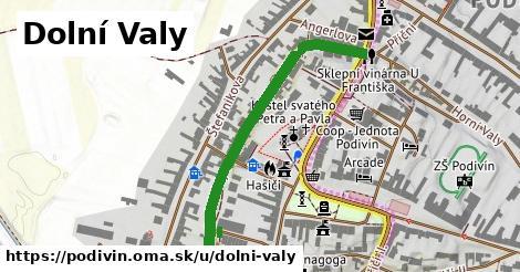 ilustrácia k Dolní Valy, Podivín - 486m