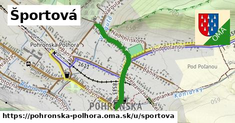 ilustrácia k Športová, Pohronská Polhora - 637m