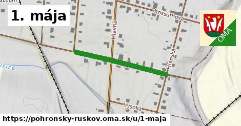 ilustrácia k 1. mája, Pohronský Ruskov - 299m