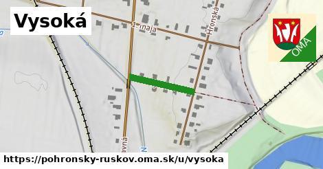 ilustrácia k Vysoká, Pohronský Ruskov - 155m
