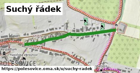 ilustrácia k Suchý řádek, Polešovice - 491m