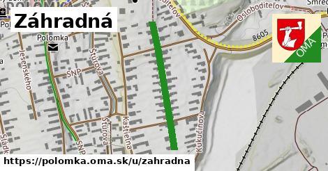 ilustrácia k Záhradná, Polomka - 354m