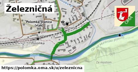 ilustrácia k Železničná, Polomka - 321m
