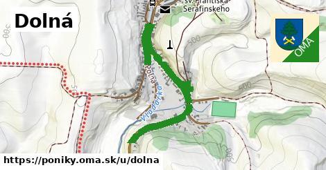 ilustrácia k Dolná, Poniky - 1,05km