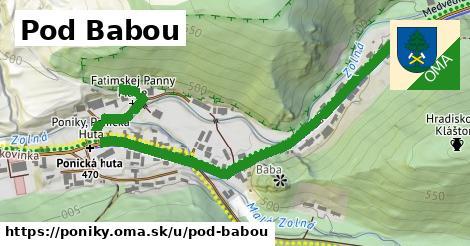 ilustrácia k Pod Babou, Poniky - 663m