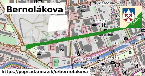 ilustrácia k Bernolákova, Poprad - 548m