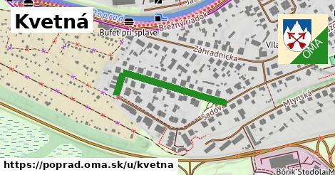 ilustrácia k Kvetná, Poprad - 291m