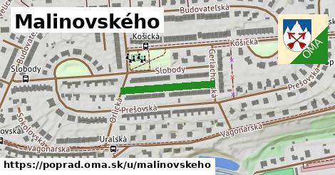 ilustrácia k Malinovského, Poprad - 209m