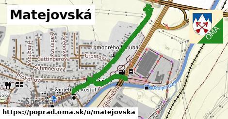 ilustračný obrázok k Matejovská, Poprad