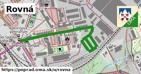 ilustrácia k Rovná, Poprad - 433m