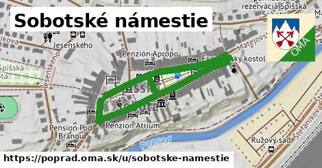 ilustračný obrázok k Sobotské námestie, Poprad
