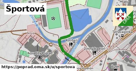 ilustrácia k Športová, Poprad - 689m