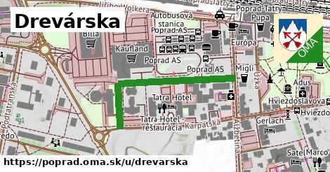 ilustrácia k Drevárska, Poprad - 366m