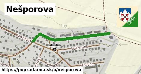 ilustrácia k Nešporova, Poprad - 431m