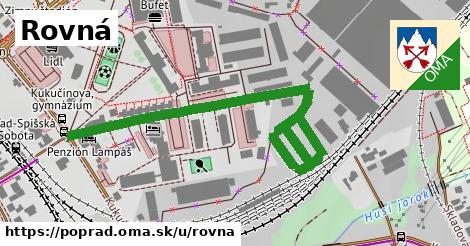 ilustrácia k Rovná, Poprad - 432m