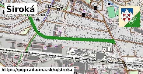 ilustrácia k Široká, Poprad - 1,04km