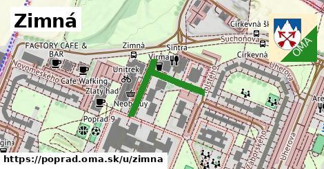 ilustrácia k Zimná, Poprad - 272m