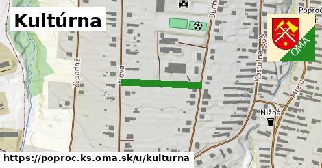 ilustrácia k Kultúrna, Poproč, okres KS - 185m
