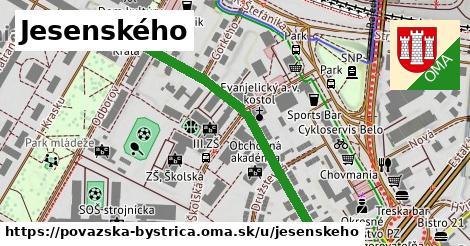 ilustračný obrázok k Jesenského, Považská Bystrica