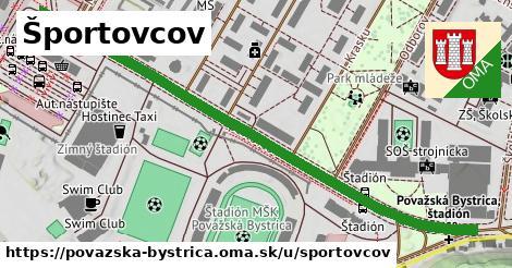 ilustrácia k Športovcov, Považská Bystrica - 0,72km