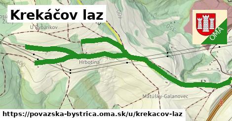 Krekáčov laz, Považská Bystrica
